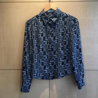 ジバンシィ(GIVENCHY)のジバンシー ロゴワイシャツ ブラック&グレー(93015883)(シャツ/ブラウス(長袖/七分))