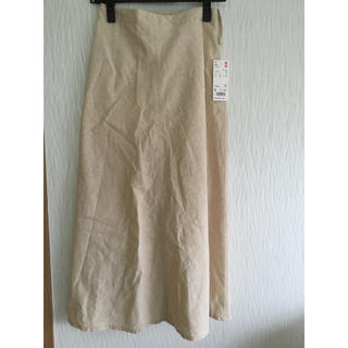 ユニクロ(UNIQLO)のユニクロ コットンリネンスカート (ロングスカート)