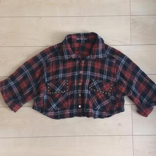 アウラアイラ(AULA AILA)のアウラアイラ ショートネルシャツ 赤 サイズ0(シャツ/ブラウス(長袖/七分))