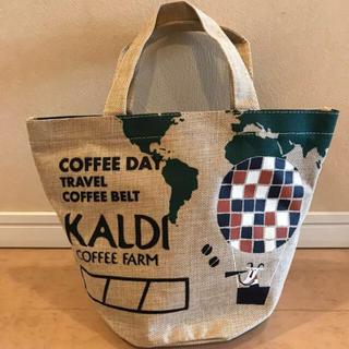カルディ(KALDI)のカルディ コーヒーの日 麻バック(エコバッグ)