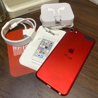 アイポッドタッチ(iPod touch)の[美品]iPod touch 第6世代 128gb レッド productred(ポータブルプレーヤー)
