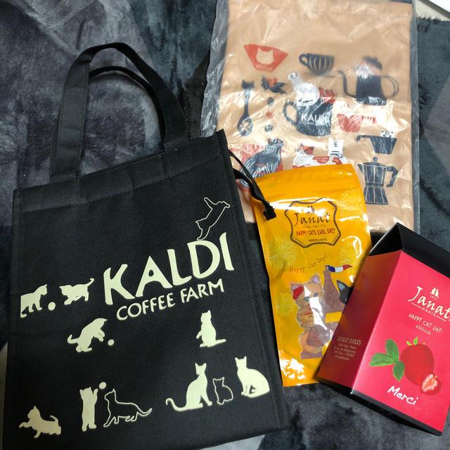 KALDI(カルディ)のカルディ ネコの日バック 紅茶 レディースのバッグ(トートバッグ)の商品写真