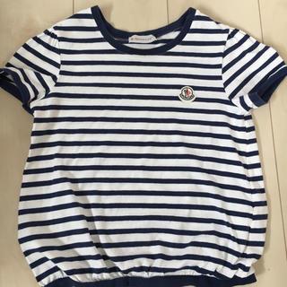 MONCLER - モンクレール ボーダー  半袖Tシャツ ロゴワッペンMONCLER