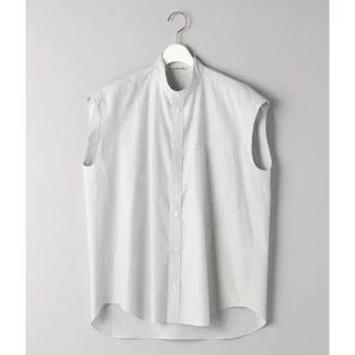 デミルクスビームス(Demi-Luxe BEAMS)のオーラリー スリーブレスシャツ(シャツ/ブラウス(半袖/袖なし))