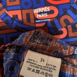 エルメス(Hermes)のエルメス 2020ss 新作 マイクロドレス プリント ワンピース 34(ミニワンピース)