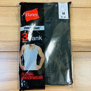 ヘインズ(Hanes)のヘインズ タンクトップ ブラック Mサイズ 新品未使用 3枚セット(タンクトップ)