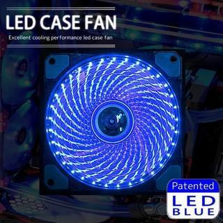LED ケース ファン 12cm 120mm PC パソコンケース 水冷 空冷(PCパーツ)