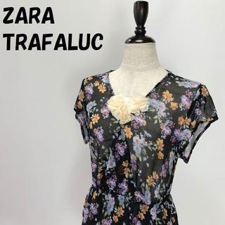 ザラ(ZARA)の【人気】ZARA TRAFALUC/ザラ 総柄 花柄 チュニック USサイズXS(チュニック)
