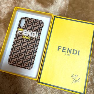 フェンディ(FENDI)の【FENDI】ほぼ未使用・新品!!!iPhoneX,Xs ケース(iPhoneケース)
