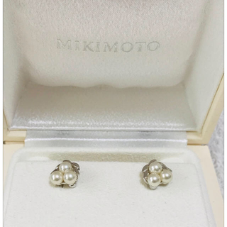ミキモト(MIKIMOTO)の美品 ミキモト  パール イヤリング  3珠(イヤリング)