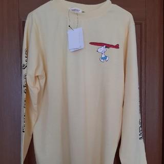 ピーナッツ(PEANUTS)の新品タグ付き スヌーピー 長袖 ロンT Tシャツ サイズM 人気サーフボード(Tシャツ/カットソー(七分/長袖))