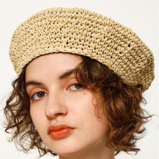 スライ(SLY)のSLY 帽子 ベレー帽❤️(麦わら帽子/ストローハット)