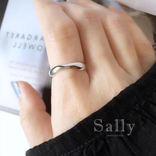 イエナ(IENA)のsale【silver925】シンプルなウェーブリングシルバー925(リング(指輪))