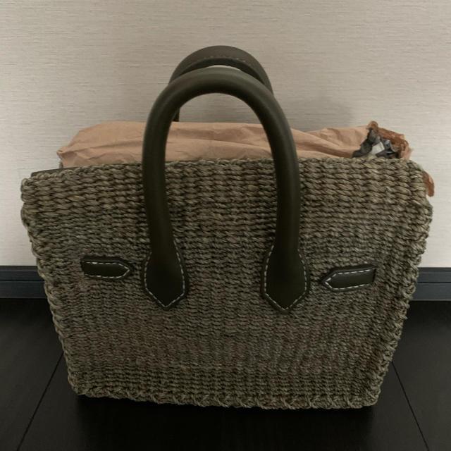 SEA(シー)のsea  カゴバーキン カーキ レディースのバッグ(かごバッグ/ストローバッグ)の商品写真