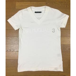 ウノピゥウノウグァーレトレ(1piu1uguale3)の限定 定価2.7万 1piu1uguale3 スワロフスキーロゴTシャツ AKM(Tシャツ/カットソー(半袖/袖なし))