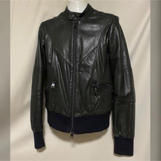 ディーゼル(DIESEL)のDIESEL BLACK GOLD ラムレザー ライダースジャケット M(ライダースジャケット)