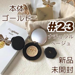 チャアンドパク(CNP)の【新品】VT プログロスコラーゲンパクト  23号 本体ゴールド(ファンデーション)