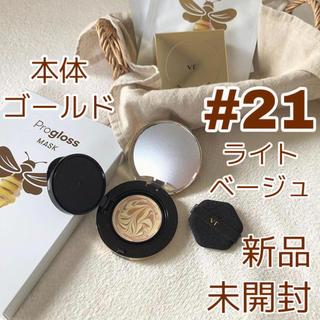 チャアンドパク(CNP)の【新品】VT プログロスコラーゲンパクト  21号 本体ゴールド(ファンデーション)