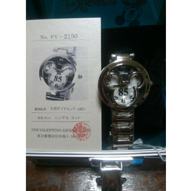 ミッキーマウス(ミッキーマウス)の新品ディズニー ミッキー生誕85周年限定 高級天然ダイヤモンド腕時計 レディースのファッション小物(腕時計)の商品写真