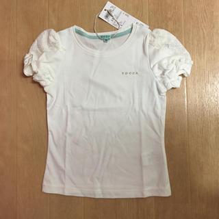 トッカ(TOCCA)のTOCCA☆トッカバンビーニ肩レースリボンカットソー☆100(Tシャツ/カットソー)
