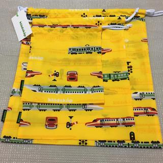 クレードスコープ(kladskap)のクレードスコープ 電車柄巾着 3点セット(体操着入れ)