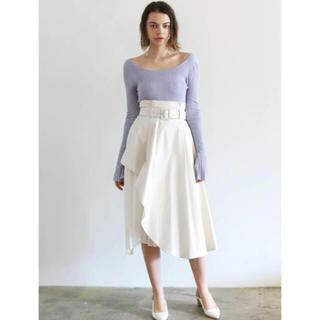 ラグナムーン(LagunaMoon)のLAGUNA MOON  アシンメトリープリーツフレアースカート(ひざ丈スカート)