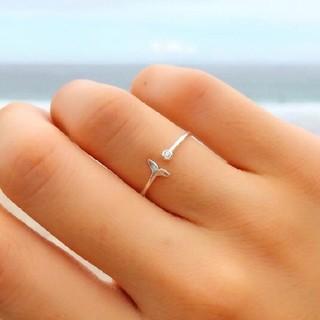 シールームリン(SeaRoomlynn)のsilver925 マーメイドリング CZダイヤ シルバー925 リング 指輪(リング(指輪))