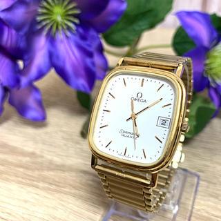 オメガ(OMEGA)のOMEGA シーマスター・白文字盤/ クォーツ時計・稼働品(腕時計(アナログ))