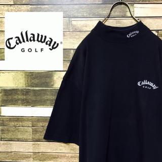 キャロウェイ(Callaway)の90's キャロウェイ USA製 ロゴ刺繍 モックネックTシャツ 入手困難(Tシャツ/カットソー(半袖/袖なし))