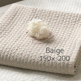 韓国イブル クラウド柄ベージュ お昼寝 ラグ ベッドマット 150×200cm(ベビー布団)