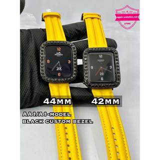 アップルウォッチ(Apple Watch)の◆アップルウォッチ用カスタムカバーカーボンベルトセット44mm42mm 40mm(腕時計(デジタル))