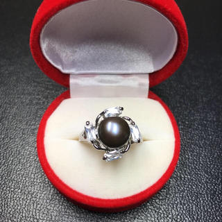 送料無料!新品 pt プラチナ 本物 真珠 リング 指輪 20号(リング(指輪))