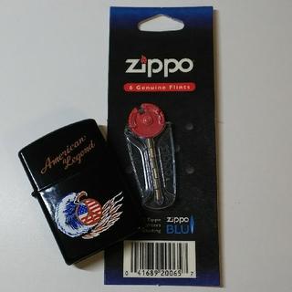 ジッポー(ZIPPO)のオイルライター(フリント付き)(タバコグッズ)