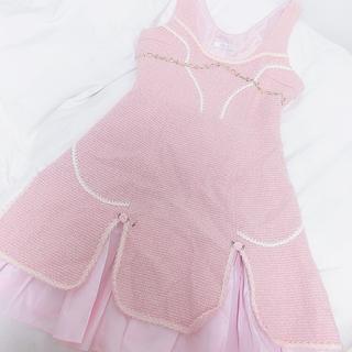 ミルク(MILK)の〖送料込み〗MILK ♡ JSK 薔薇 ピンク ローズタルト(ひざ丈ワンピース)