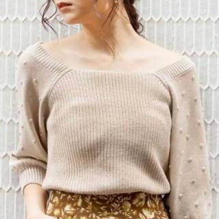 フリーズマート(FREE'S MART)の袖タック編み短丈ニット タグ付き 新品未使用(ニット/セーター)