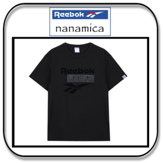 ナナミカ(nanamica)のリーボック×ナナミカ ベクターTシャツ ステルスブラック (UK)S/(JP)M(Tシャツ/カットソー(半袖/袖なし))