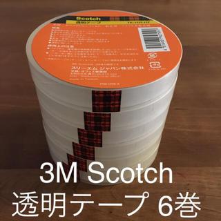 3M スコッチ 透明テープ (セロテープ) 6巻セット 15mm×35m 大巻(テープ/マスキングテープ)