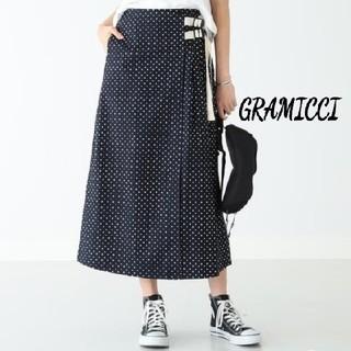 デミルクスビームス(Demi-Luxe BEAMS)の美品⭐BEAMS グラミチ別注 GRAMICCI ドットラップスカート M(ロングスカート)