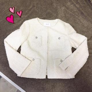 シップス(SHIPS)の新品♡SHIPS♡ツィードジャケット♡(ノーカラージャケット)