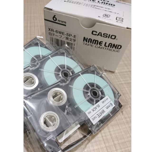 CASIO(カシオ)のCASIO NAME LAND 6mm テープ替え インテリア/住まい/日用品の文房具(テープ/マスキングテープ)の商品写真