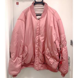 バレンシアガ(Balenciaga)のVETEMENTS オーバーサイズ MA-1 ピンク(ブルゾン)