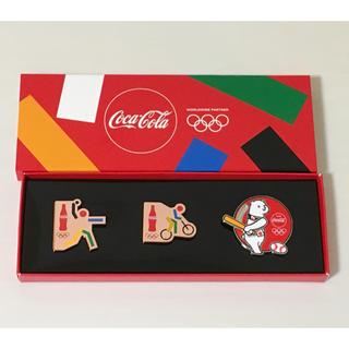 コカコーラ(コカ・コーラ)のコカコーラ 非売品 ピンバッジ ソフト 自転車競技 野球(その他)