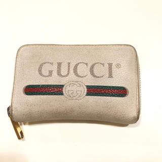 グッチ(Gucci)の【adgj】 グッチ プリント レザー カード&コインケース(コインケース/小銭入れ)