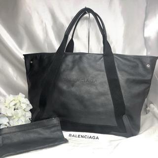 バレンシアガ(Balenciaga)のバレンシアガ ネイビーカバス Mサイズ 黒 レザー 美品★(トートバッグ)