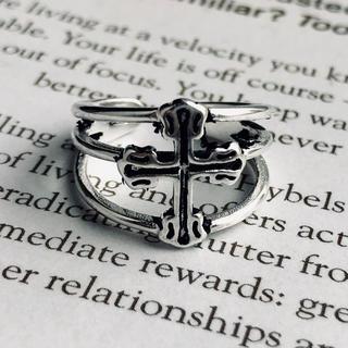 イートミー(EATME)のインポート ヴィンテージ   シルバー 925  十字架 リング(リング(指輪))