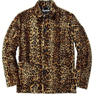 シュプリーム(Supreme)のsupreme faux fur leopard jacket S ファー (毛皮/ファーコート)