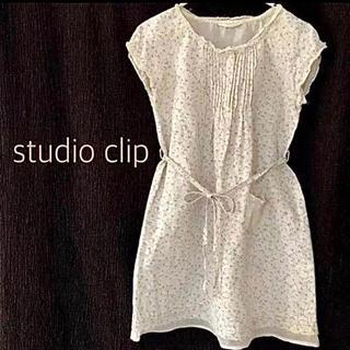 スタディオクリップ(STUDIO CLIP)のスタディオクリップ  110 リネン ワンピース 麻  女の子 スタジオクリップ(ワンピース)