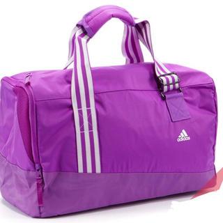 アディダス(adidas)の【新品】adidasアディダス シューズ収納ポケット付きパープル スポーツバッグ(ボストンバッグ)