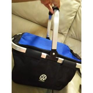 フォルクスワーゲン(Volkswagen)の【新品未開封】フォルクスワーゲンのキャンプ道具❤エコバッグ❤️エコかご❤️非売品(エコバッグ)