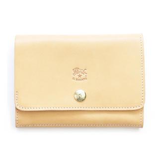 イルビゾンテ(IL BISONTE)の新品 イルビゾンテ 二つ折り 財布 ミニ財布 コインケース付き 札入れ ヌメ革(折り財布)